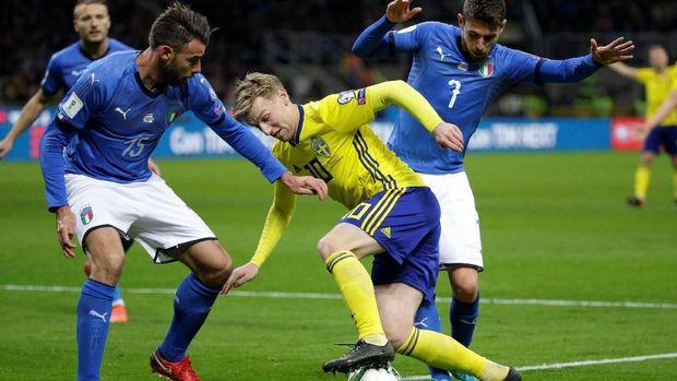 Timnas Swedia mampu menahan imbang Timnas Italia dan melaju ke Piala Dunia 2018. (