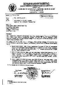 Surat Dewan Harian Nasional 45 (Dok. Keluarga)