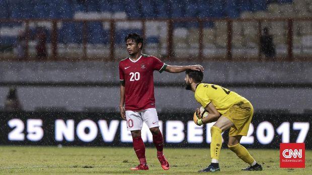 Ilham Udin dipercaya menjadi penyerang tengah Timnas Indonesia saat melawan Islandia.