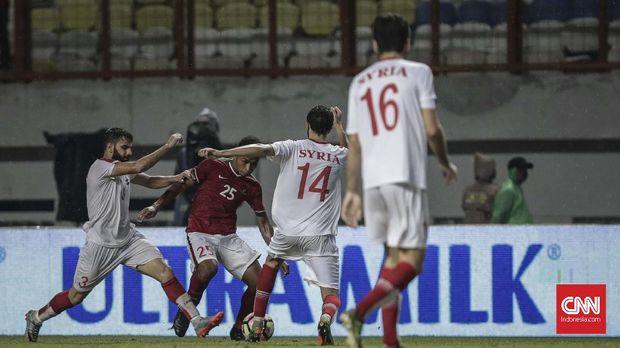 Timnas Indonesia kalah 0-1 dari Timnas Suriah U-23. (