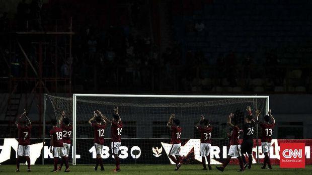 Timnas Indonesia akhirnya meraih kemenangan pada laga uji coba di sepanjang November.
