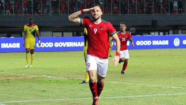 Ilija Spasojevic menjadi salah satu pemain senior yang memperkuat Timnas Indonesia di Tsunami Cup.