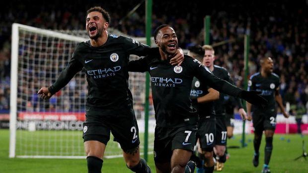 Raheem Sterling memastikan kemenangan Manchester City menit ke-84.