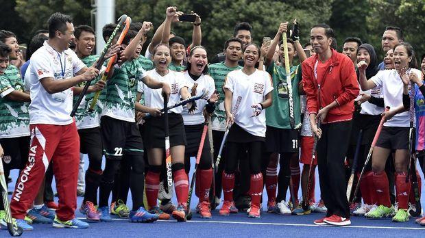 Presiden Jokowi saat meresmikan beberapa venue yang ada di komplek Gelora Bung Karno.