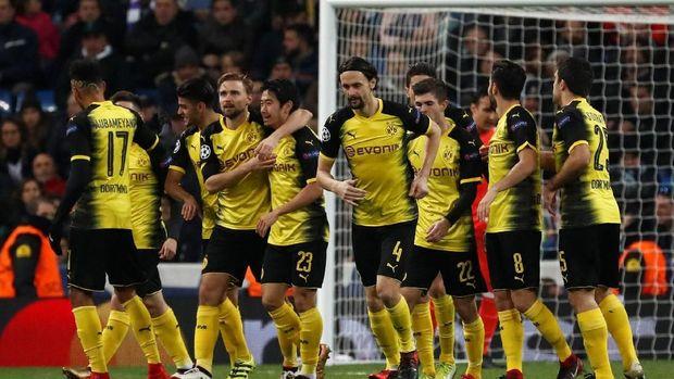 Borussia Dortmund sempat menyamakan kedudukan 2-2 ke gawang Real Madrid. (