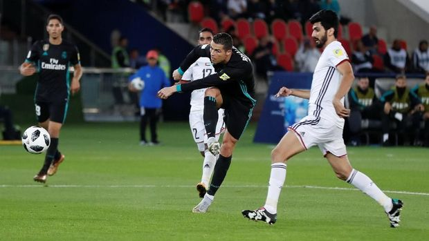 Real Madrid mengalahkan Al Jazira 2-1 di semifinal Piala Dunia Antarklub 2017.