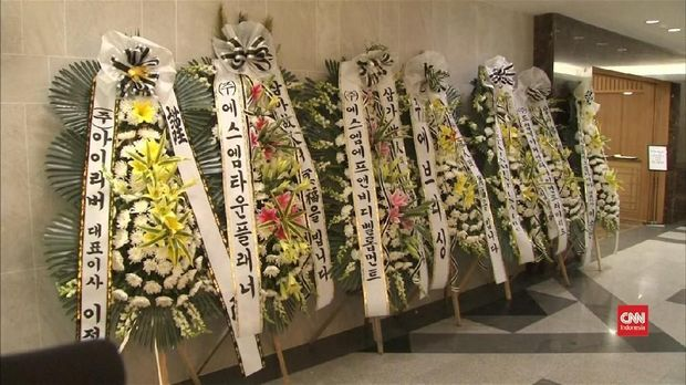 Ilustrasi: Situasi di rumah duka di Korea Selatan.