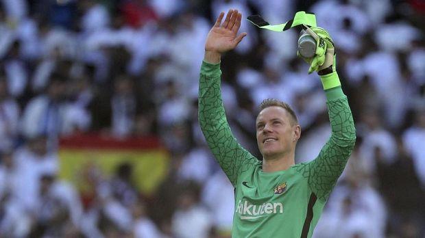 Marc Andre ter Stegen mampu membuat Real Madrid gagal mencetak gol di laga El Clasico kali ini.