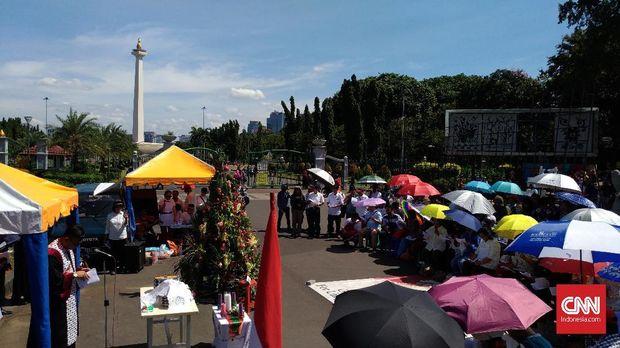 Jemaat GKI Yasmin Kembali Langsungkan Misa di Seberang Istana