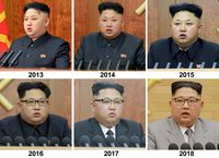 Pakaian Kim Jong-un dari tahun ke tahun.