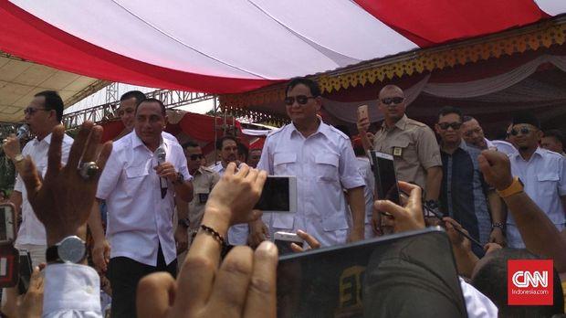 Yel-yel Prabowo Presiden Menggema di Deklarasi Edy Rahmayadi