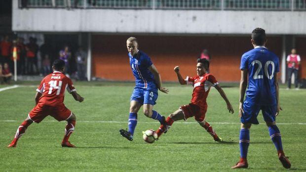 Islandia mendapatkan perlawanan lebih sengit dibandingkan ketika menghadapi Indonesia Selection.