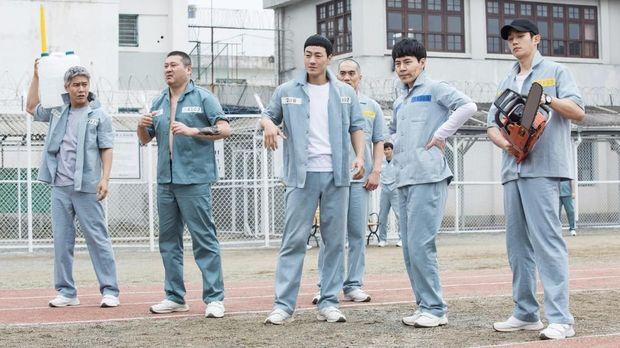 Lima penghuni Lapas Seobu dalam drama 'Prison Playbook.'