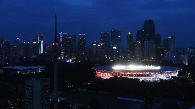Stadion GBK bakal digunakan menggelar laga uji coba Timnas Indonesia vs Timnas Islandia. (CNN Indonesia/Hesti Rika Pratiwi)