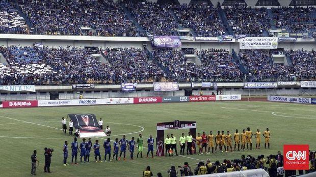 Persib Bandung sukses mengalahkan Sriwijaya FC 1-0 di Stadion GBLA, Selasa (16/1).