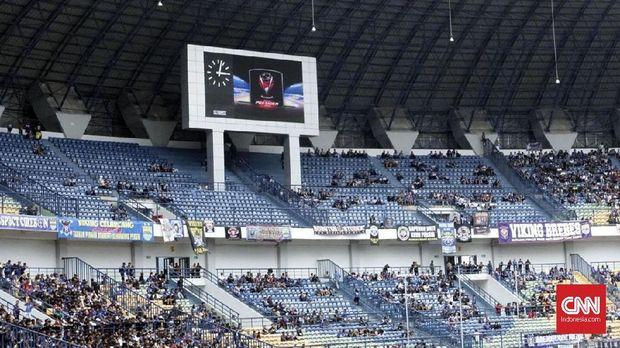 Suasana di Stadion GBLA jelang-jelang laga Persib vs Sriwijaya FC. (