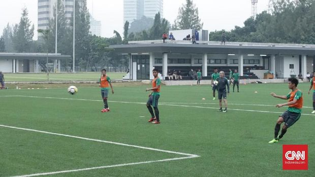 Para pemain Timnas Indonesia masih menjalani pemusatan latihan