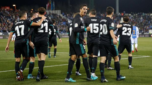 Real Madrid berhasil menang atas Leganes di leg pertama perempat final Copa del Rey.