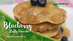 Blueberry Fluffly Pancake untuk Buka Puasa