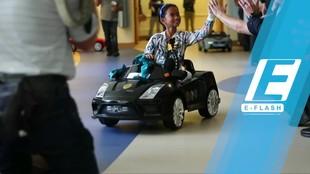 Wah! Para Pasien Anak ke Ruang Operasi Naik Mobil Mainan