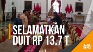 Lapor ke Jokowi, BPK Sebut Telah Selamatkan Uang Negara Rp 13,7 T