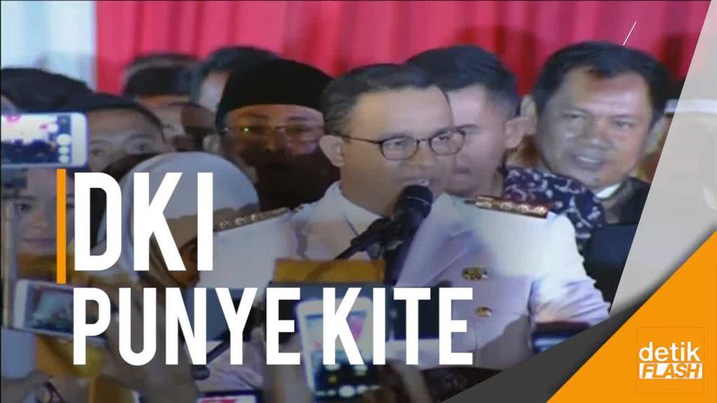 Sambutan Gubernur DKI Anies Baswedan ke Warganya