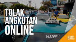 Sopir Taksi hingga Abang Becak Demo Tolak Transportasi Online