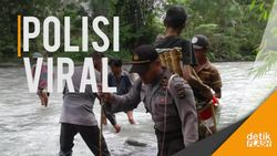 Polisi Tandu Warga Sakit ke Puskesmas