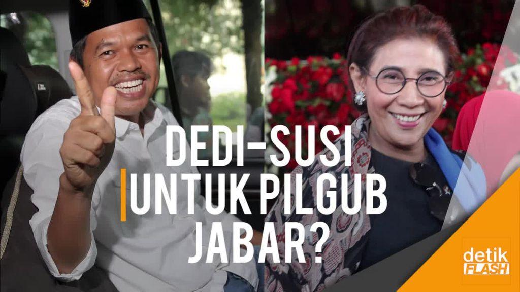 Puji-puji Dedi untuk Menteri Susi, Bakal Duet di Pilgub Jabar?