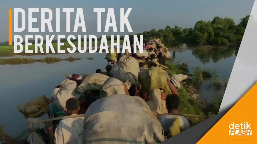 Gelombang Pengungsi Rohingya Tak Kunjung Berhenti