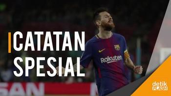 Messi Bukukan Gol ke-100 di Kompetisi Eropa