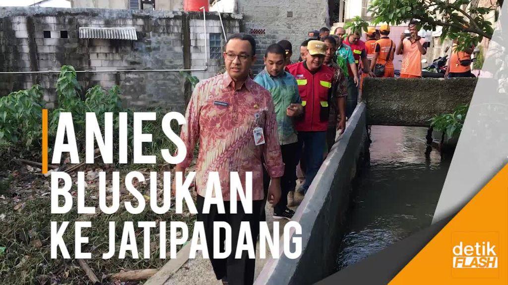 Anies ke Warga Jatipadang: Kita Pastikan Sungai Dikeruk!