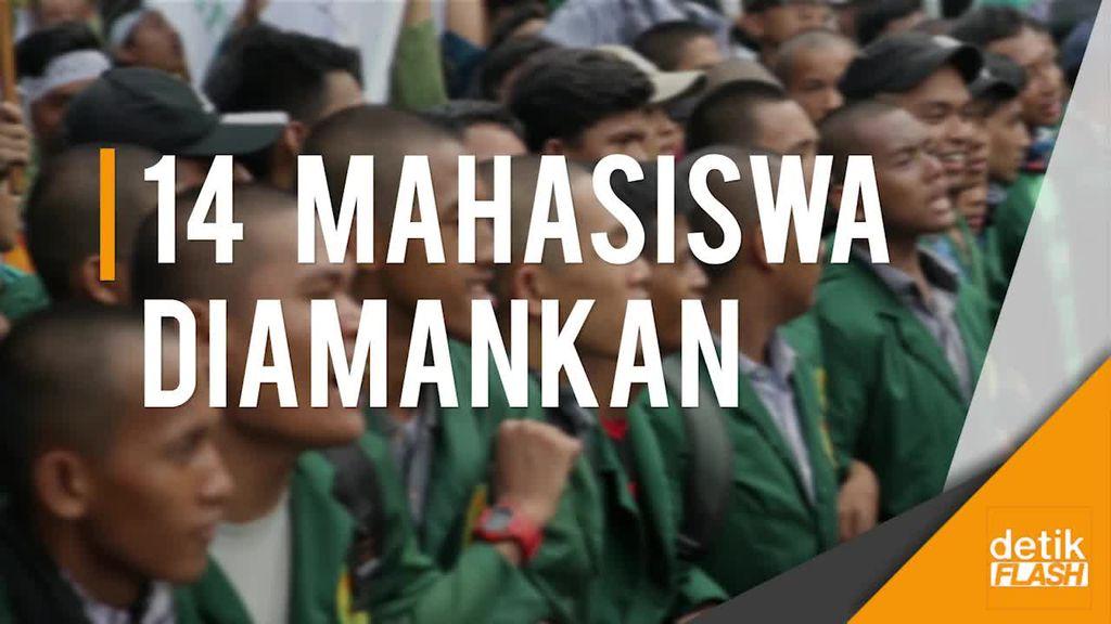 Polisi Tengah Dalami Peran 14 Mahasiswa Terkait Aksi Unjuk Rasa