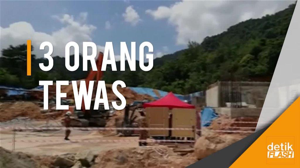 Lokasi Konstruksi di Malaysia Tertimpa Longsor