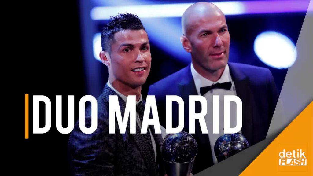 Zidane dan Ronaldo Jadi yang Terbaik di Dunia