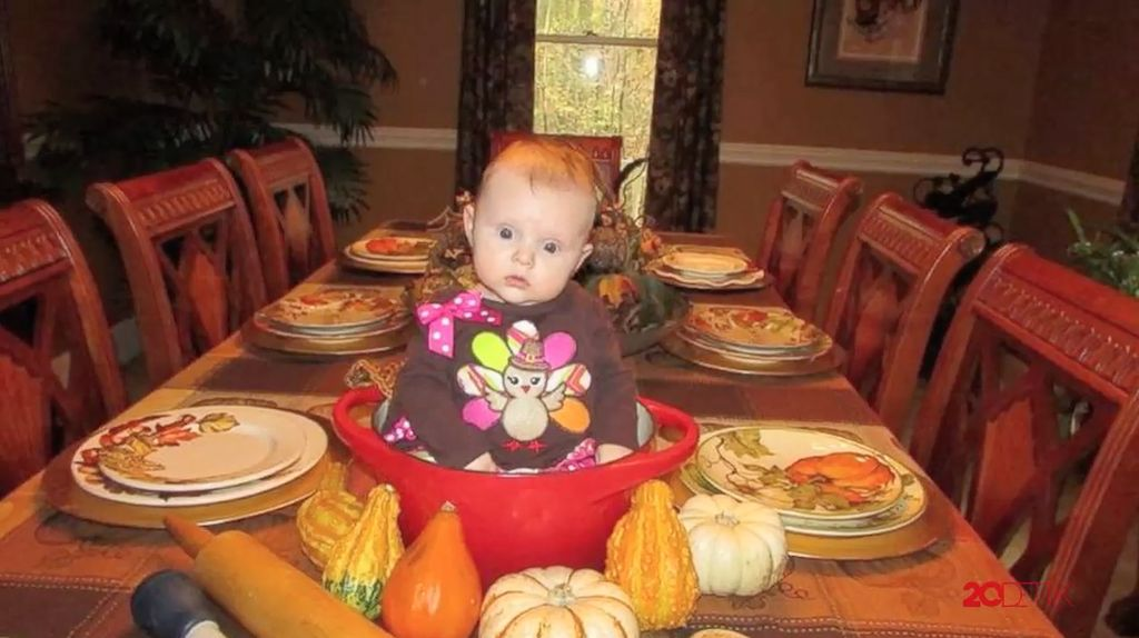 Lucu! Bayi Kalkun di Hari Thanksgiving