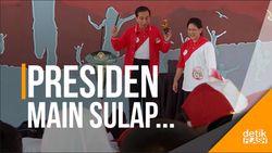 Momen Ibu Negara jadi Asisten Sulap Presiden