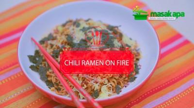 Chili Ramen On Fire