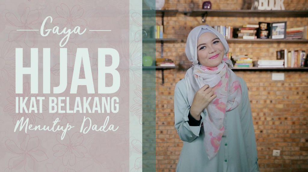 Tutorial: Hijab Pashmina Ikat Belakang Menutup Dada