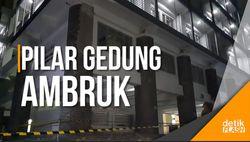 Pilar Gedung ITB Runtuh, Enam Orang Terluka