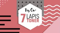 Try on: 7 Lapis Toner ala Wanita Korea