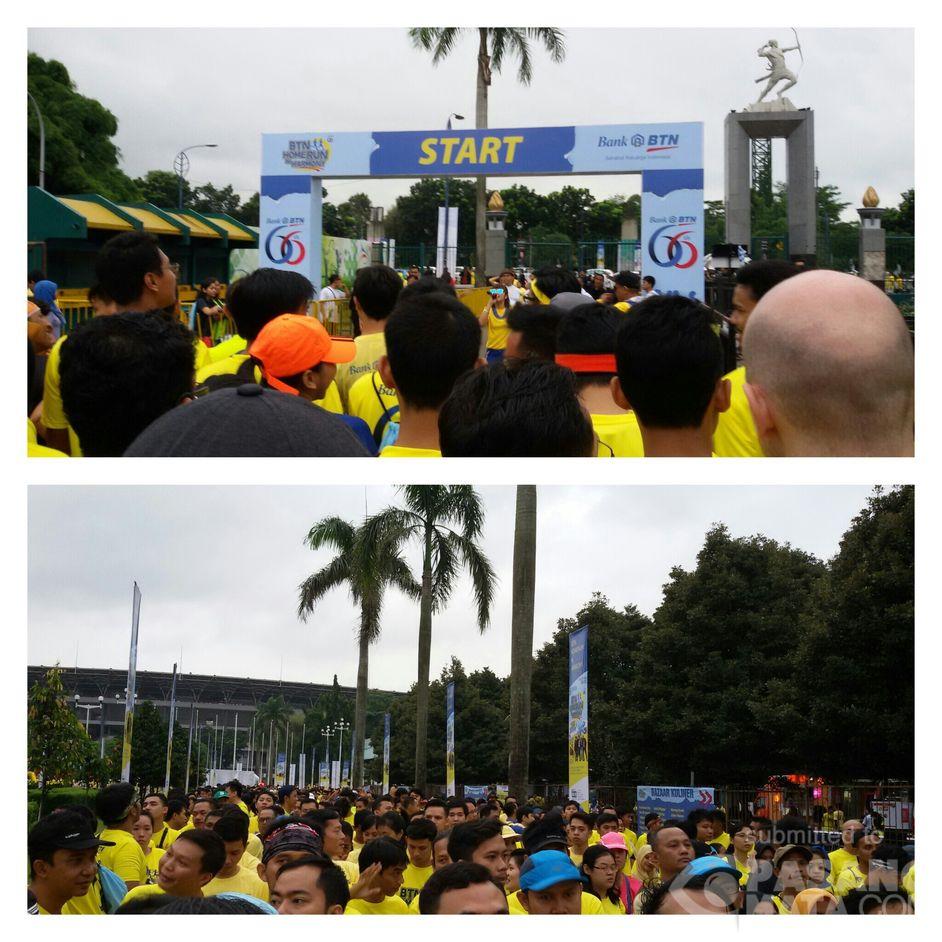 Pagi Ini Senayan Dipadati Para Peserta Lari Marathon •