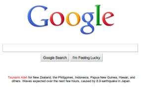Google tsunami warn