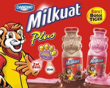 Danone Meluncurkan Milkuat Botol Tiger untuk Memenuhi Zat Besi & Zink Anak Indonesia