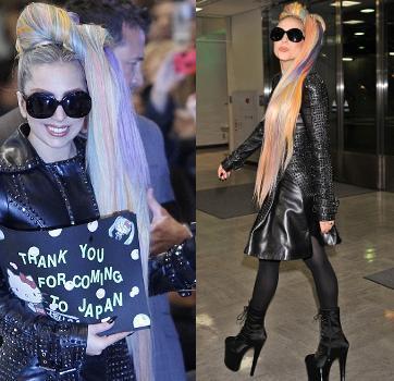 Konser di Tokyo, Rambut Lady Gaga Bak Pelangi