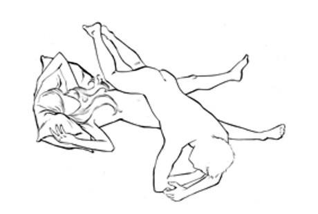 Posisi Menyilang (Cross Buttock)