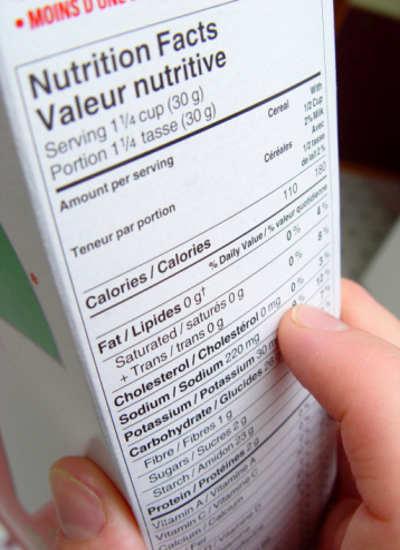 Label Makanan Bantu Penurunan Berat Badan