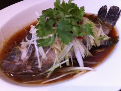 Resep Seafood: Steamed Garoupa Fish with Superior Soya Sauce