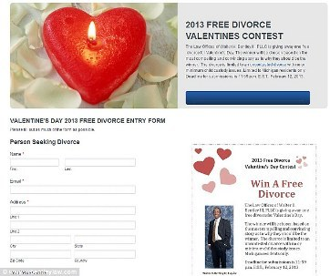 Pasangan Bisa Cerai Gratis di Hari Valentine Melalui Pengacara Ini
