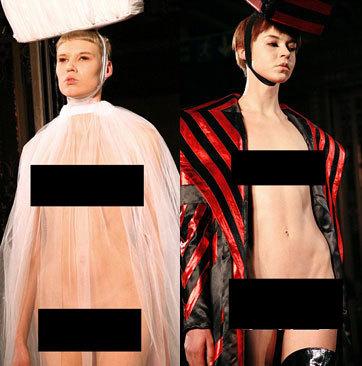Desainer Inggris Tampilkan Model Telanjang di London Fashion Week